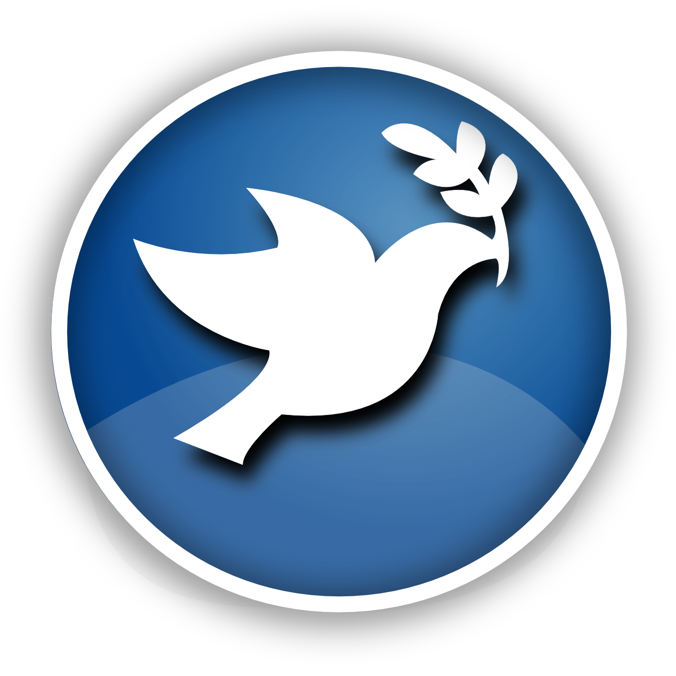 Peace Dove Icon Christmas Xmas Peace on Earth Coloring Book.