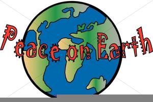 Peace On Earth Christmas Clipart.