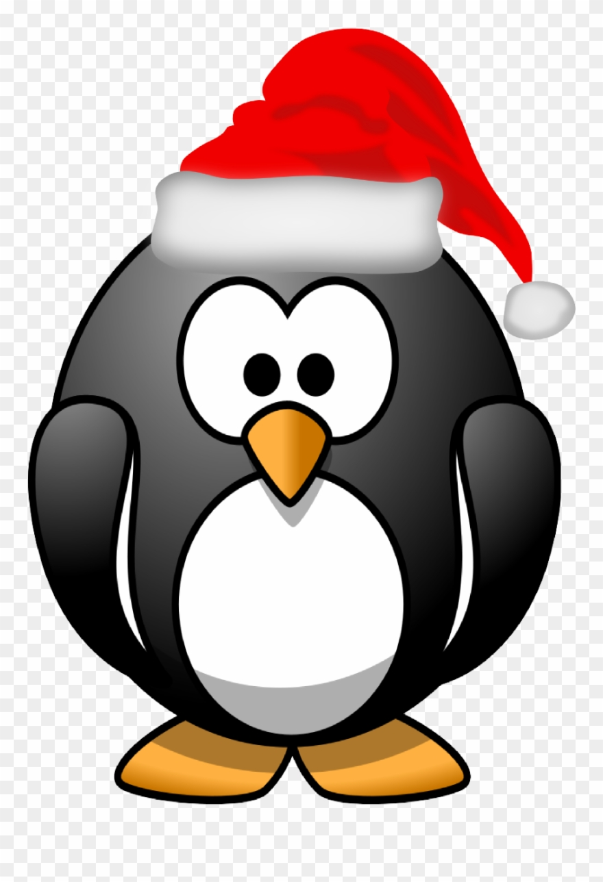 Xmas Stuff For Christmas Penguin Clipart Black And.