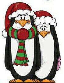 Cartoon Penguins.