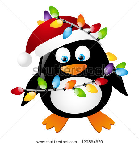Christmas Penguin Stock Images, Royalty.