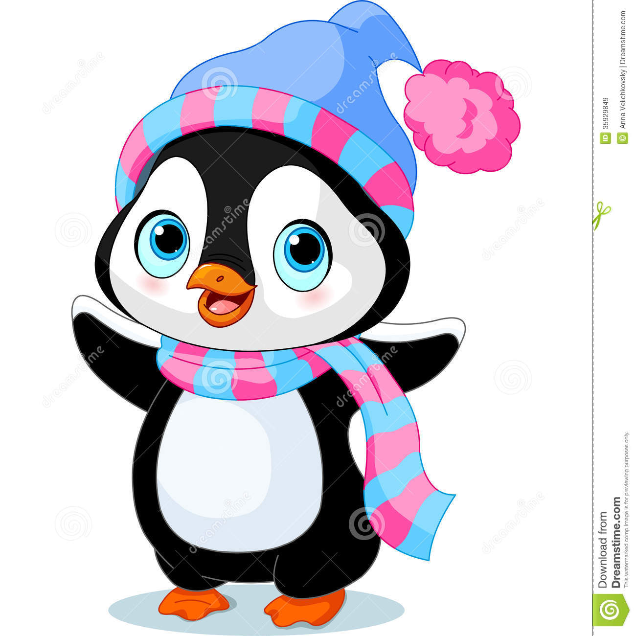 girl penguins clipart.