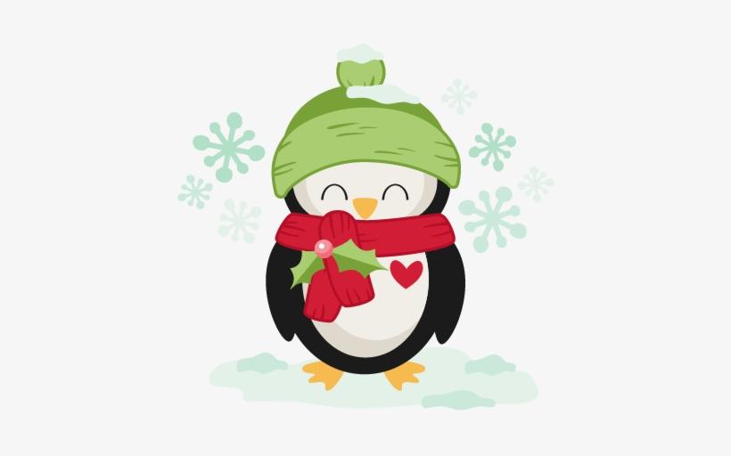 Winter Christmas Penguin Svg Scrapbook Cut File Cute.