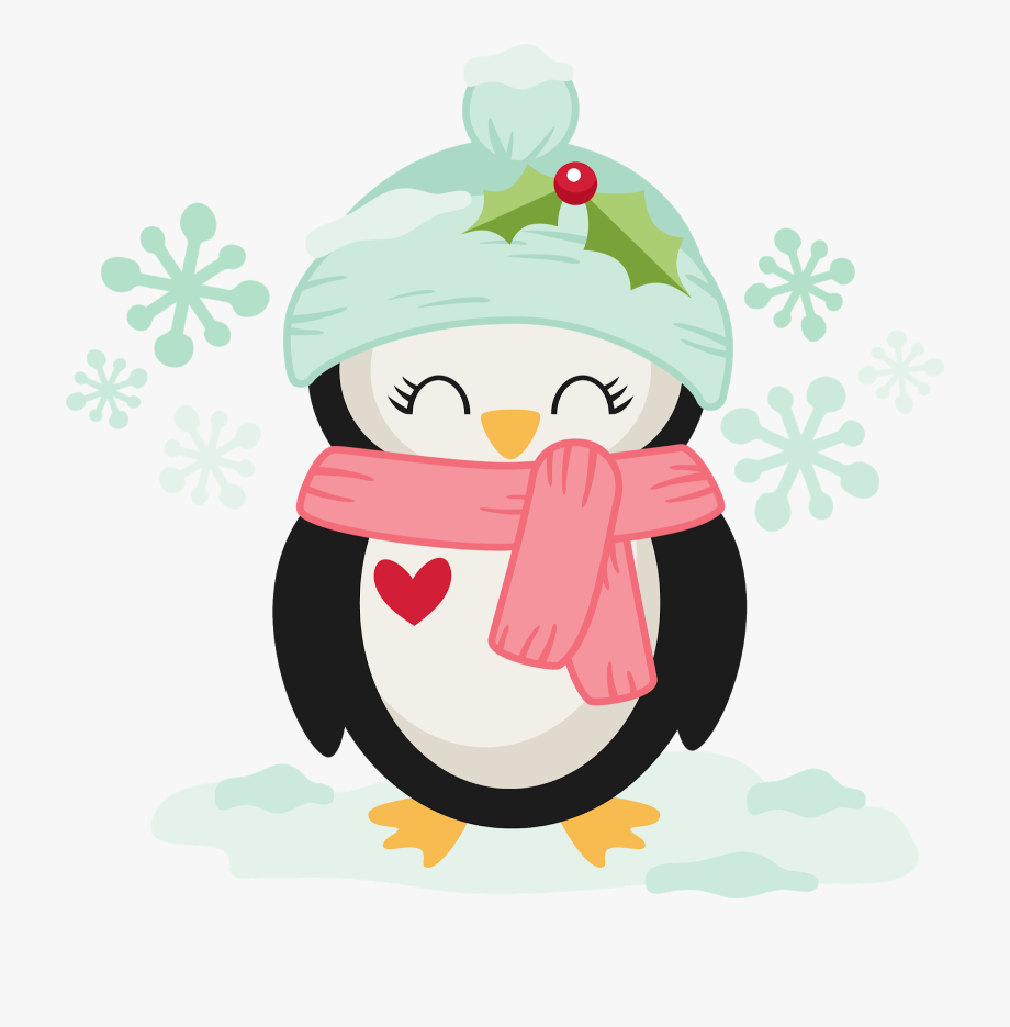 Christmas Penguin Png.