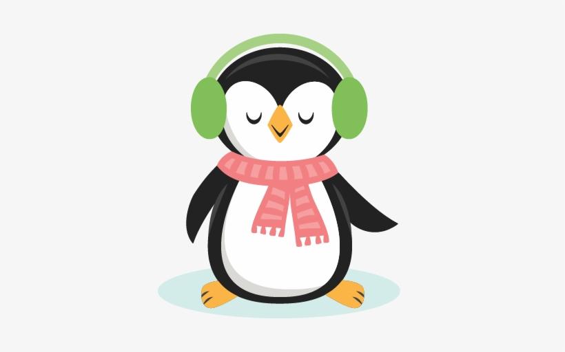 Clip Art Transparent Library Cute Christmas Penguin.