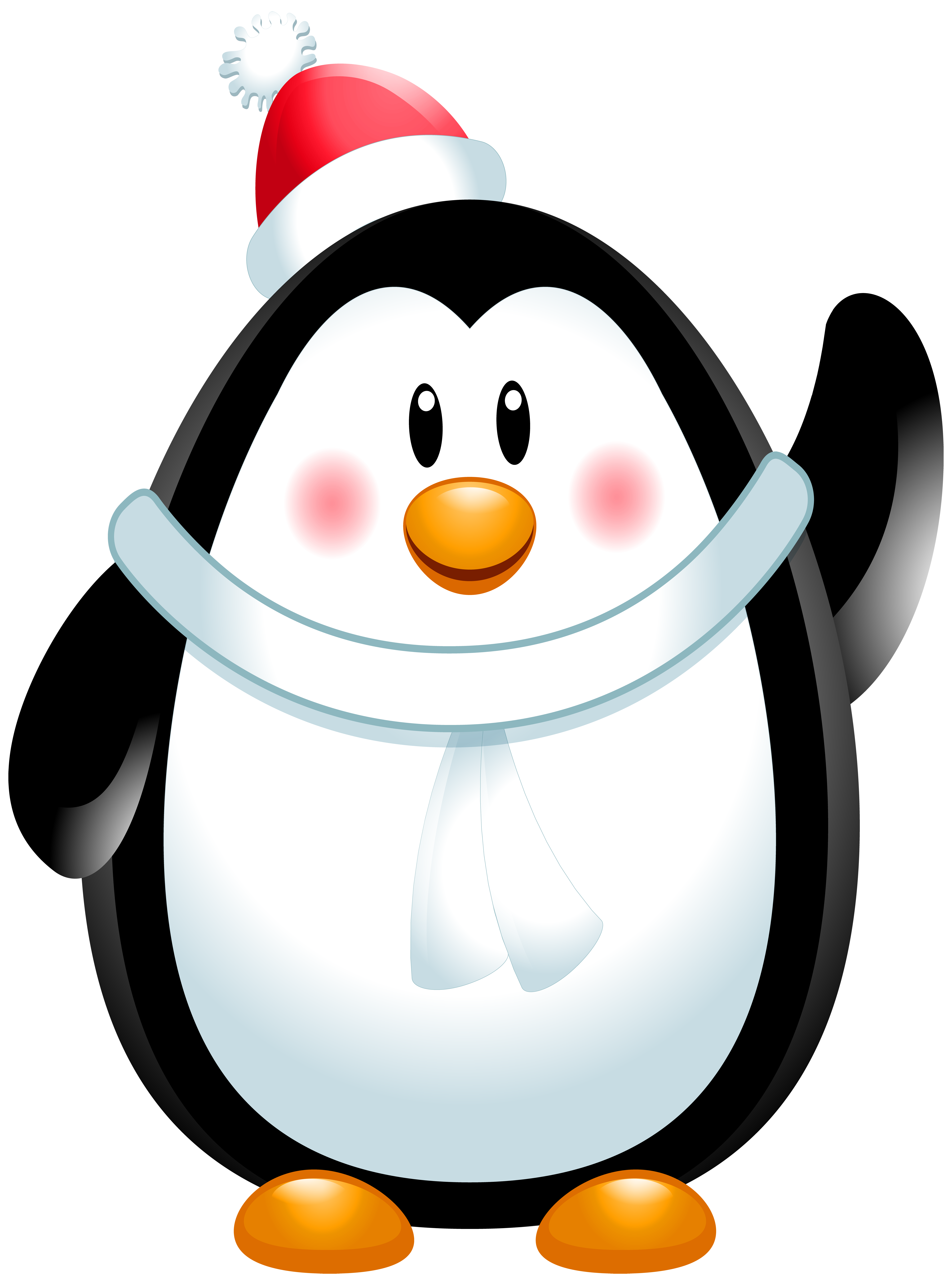 Christmas Penguin PNG Clip Art Image.