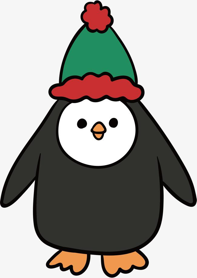Cartoon Christmas Penguin, Vector Png, P #101202.