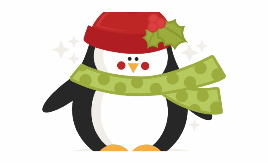 Cute Christmas Penguin Clipart.