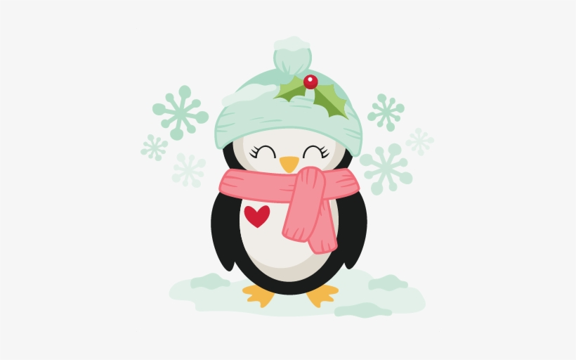 Winter Christmas Penguin Svg Scrapbook Cut File Cute.