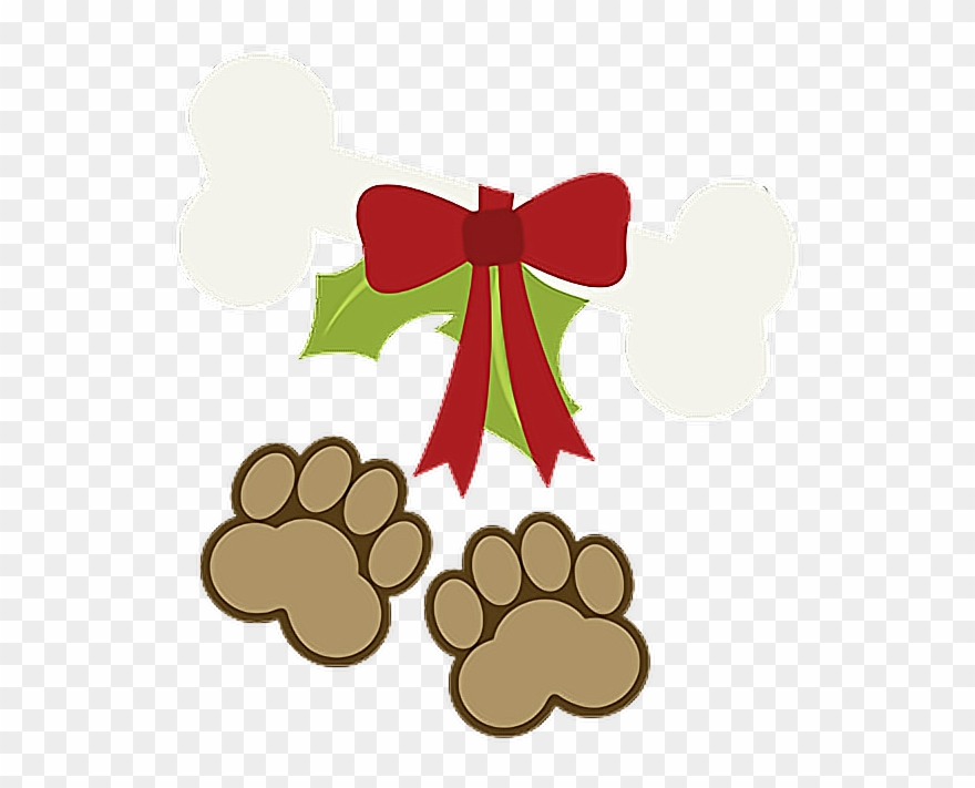 Happy Holidays Xmas Christmas Paws Puppy Pet Dog Bone.