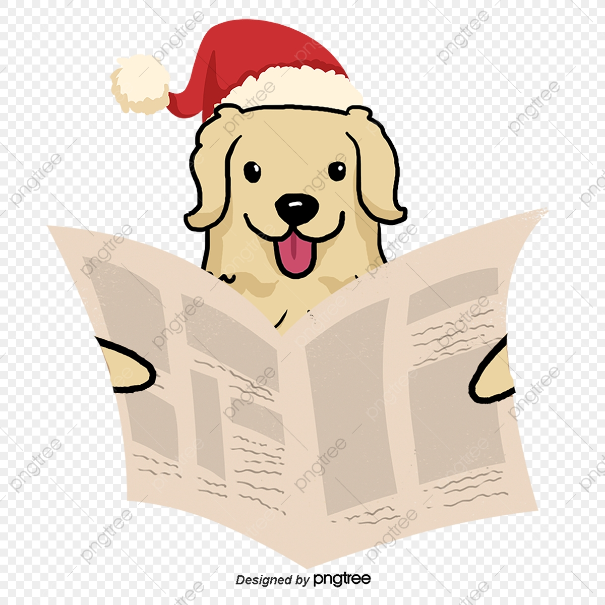 Read Newspapers Christmas Pet Dog, Dog Clipart, Read Newspaper, Pet.
