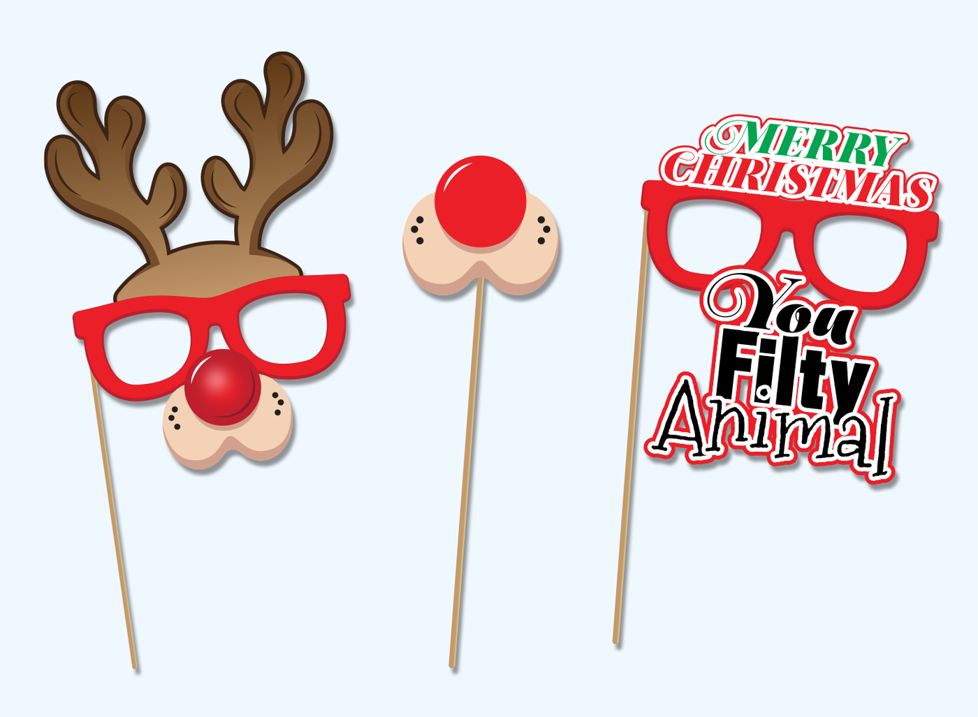 Christmas photo booth props png 1 » PNG Image.
