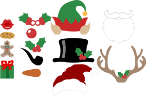 FREE SVG files: Christmas Photo Booth Props and funny sayings. Free.