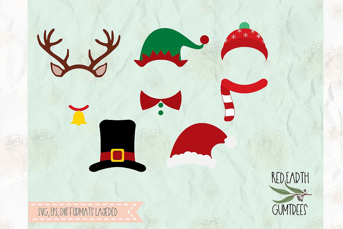Christmas photobooth, reindeer in SVG, DXF,PNG, EPS formats.