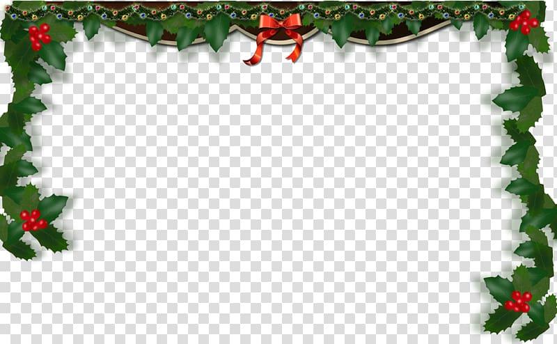 Christmas frame border transparent background PNG clipart.