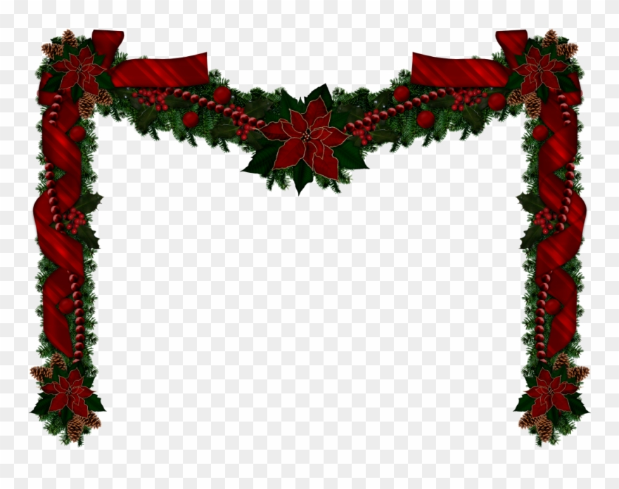 Christmas Garlands, Christmas Clipart, Rustic Christmas.