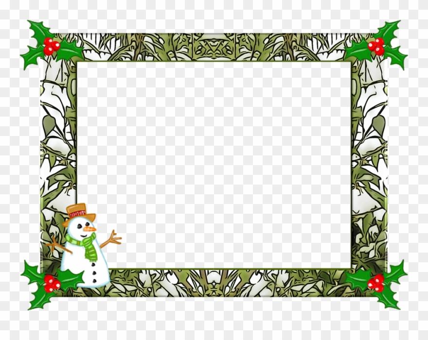 Christmas Frame Christmas Holly Frame Winter Xmas.