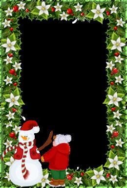 Merry Christmas Frame clipart.