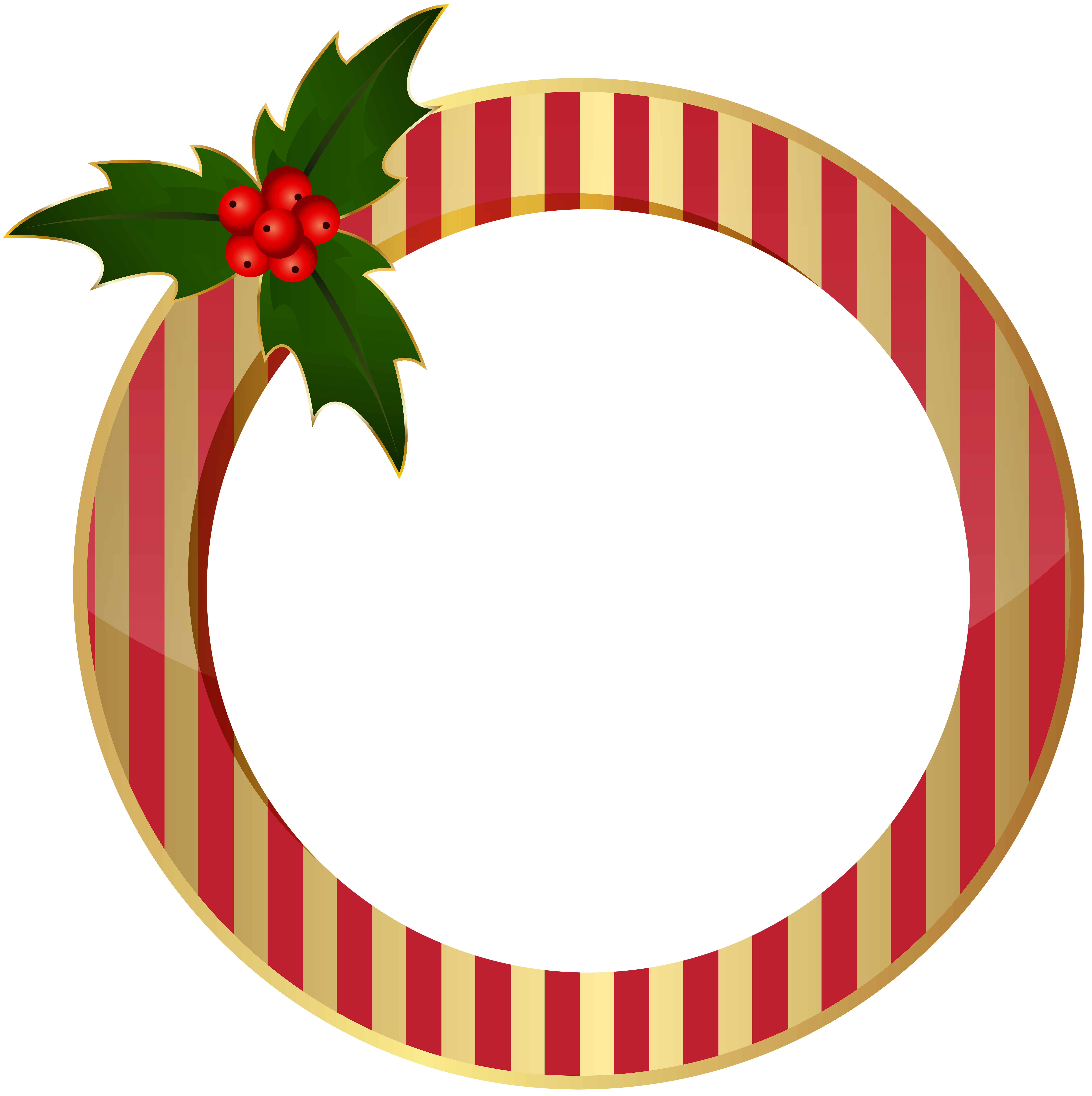 Christmas Round Frame PNG Clip Art.