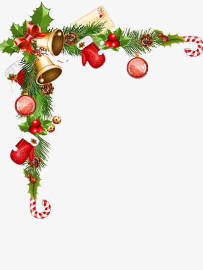 Christmas Decoration Border, Creative Borders, Decorative.