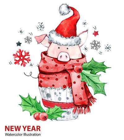 2,799 Christmas Pig Stock Vector Illustration And Royalty Free.