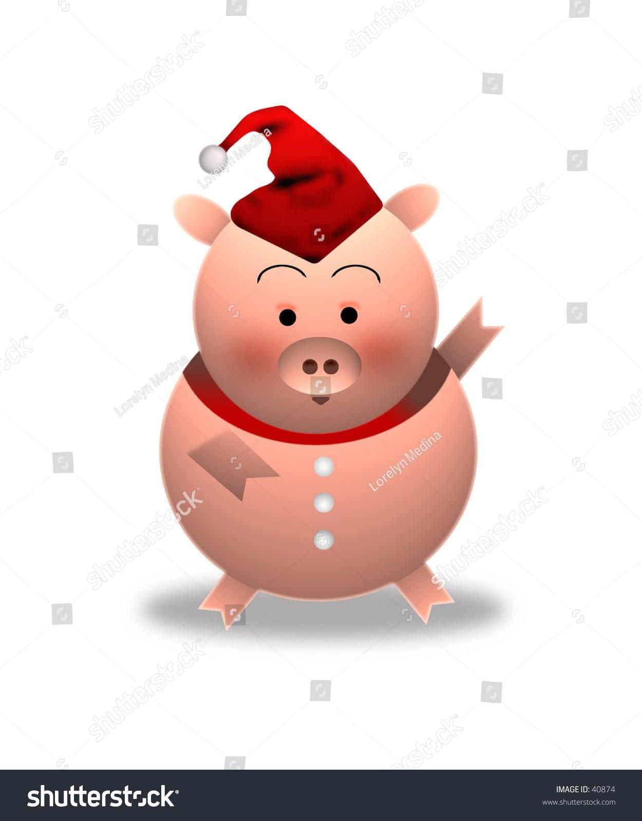 Christmas pig clipart 7 » Clipart Portal.