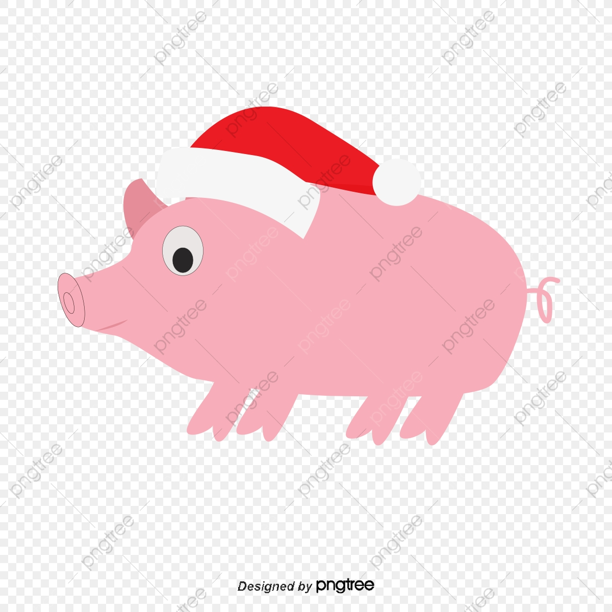 Christmas Pig Meng Meng, Pig Clipart, Decoration, Vector PNG and.