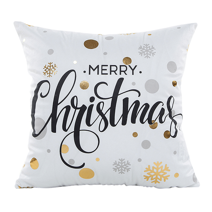GOLD CHRISTMAS CUSHION COVER 3.