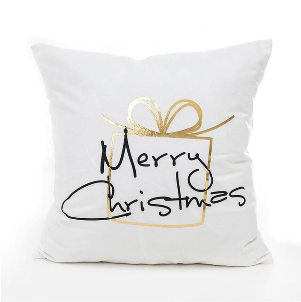 Simple Christmas Pillow Covers.
