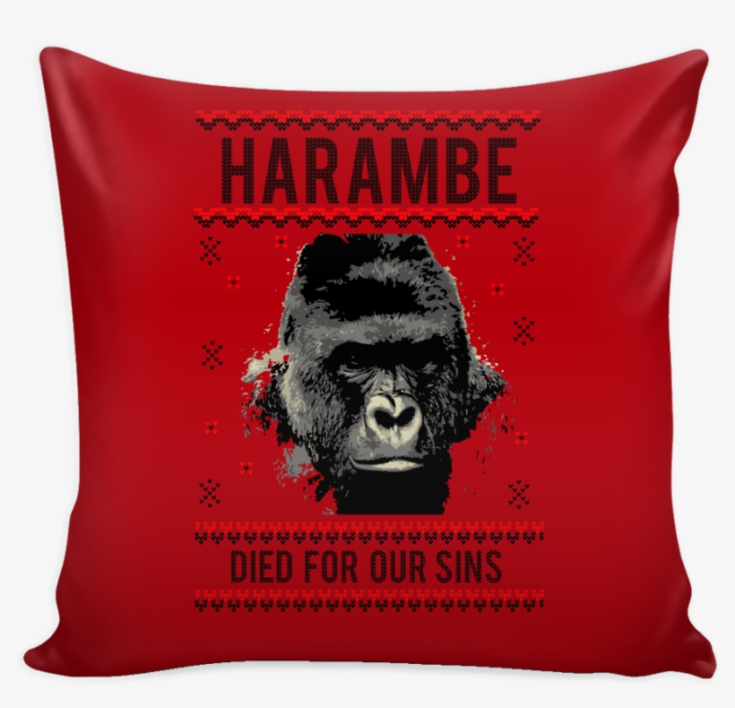 Harambe Died For Our Sins Festive Funny Ugly Christmas.