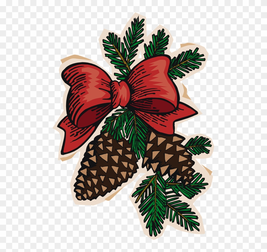 Christmas Pinecone Clipart.