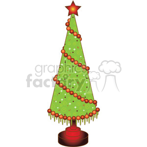 Christmas Tree Cone 03 clipart . Royalty.