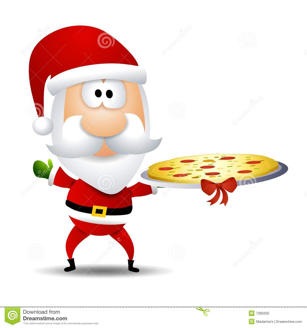 Santa Claus Pizza Platter stock illustration. Illustration of image.