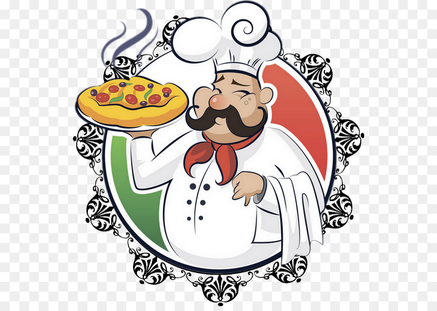 Christmas Pizza clipart.