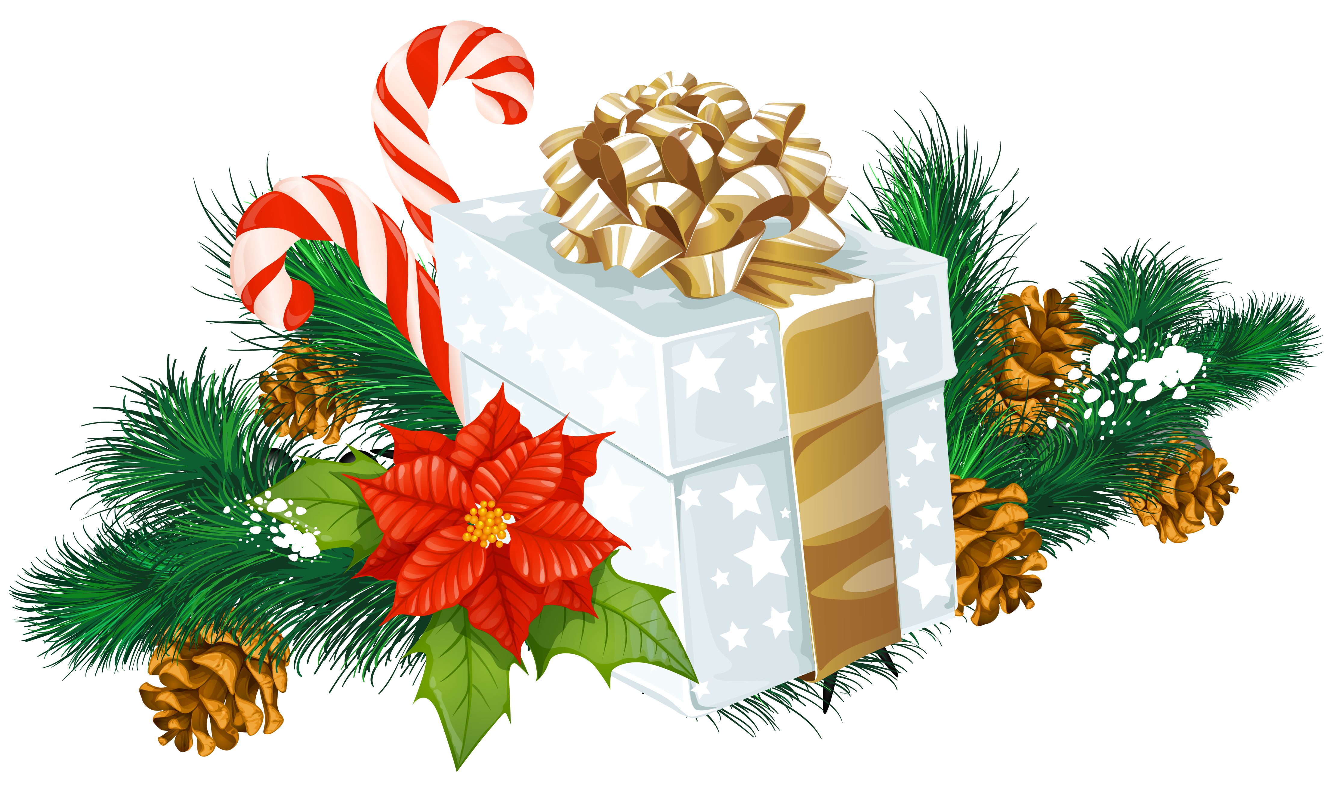 Christmas png clipart clipground for Decoration gift