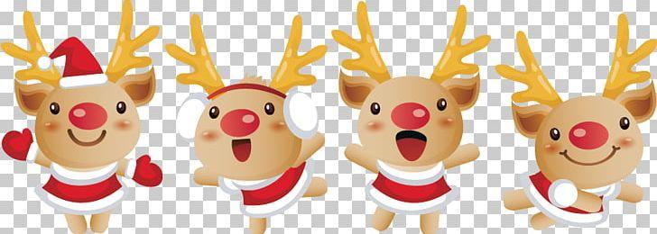 Reindeer Santa Claus Christmas PNG, Clipart, Christmas, Christmas.