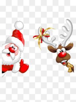 Santa And Elk, Christmas, Christmas Eve, Merry Christmas PNG.