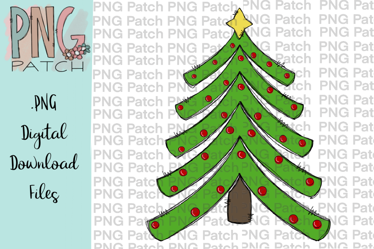 Cute Tiered Christmas Trees, Christmas PNG File.
