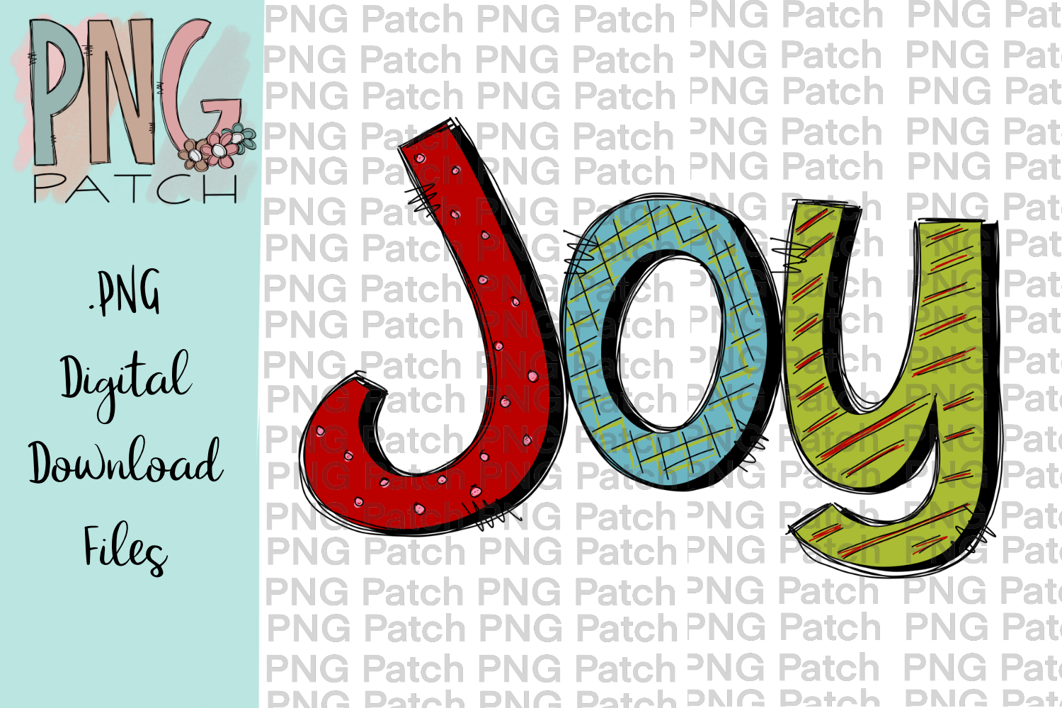 Colorful Joy, Christmas PNG File, Holiday Sublimation Design.