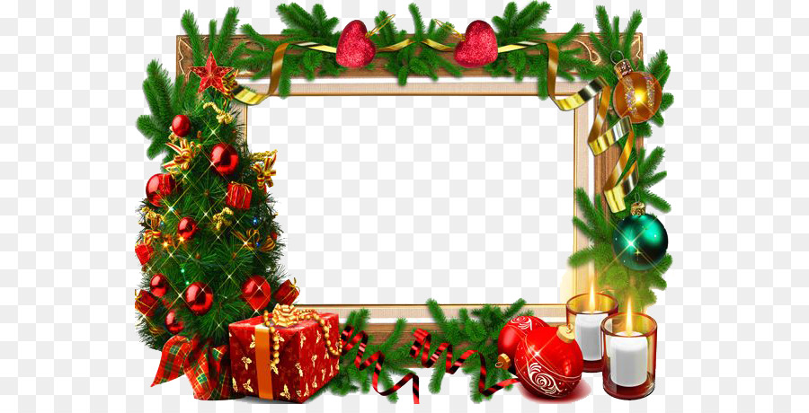 Christmas Card Frame png download.