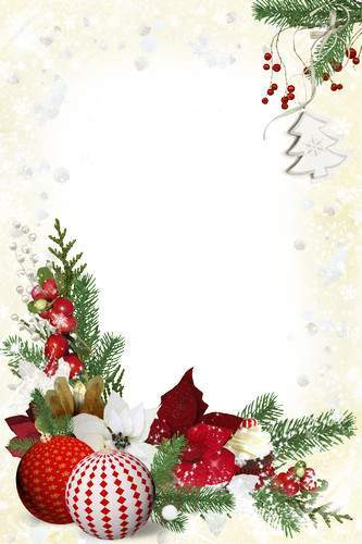 Free Set of Christmas PNG frames Come holidays.