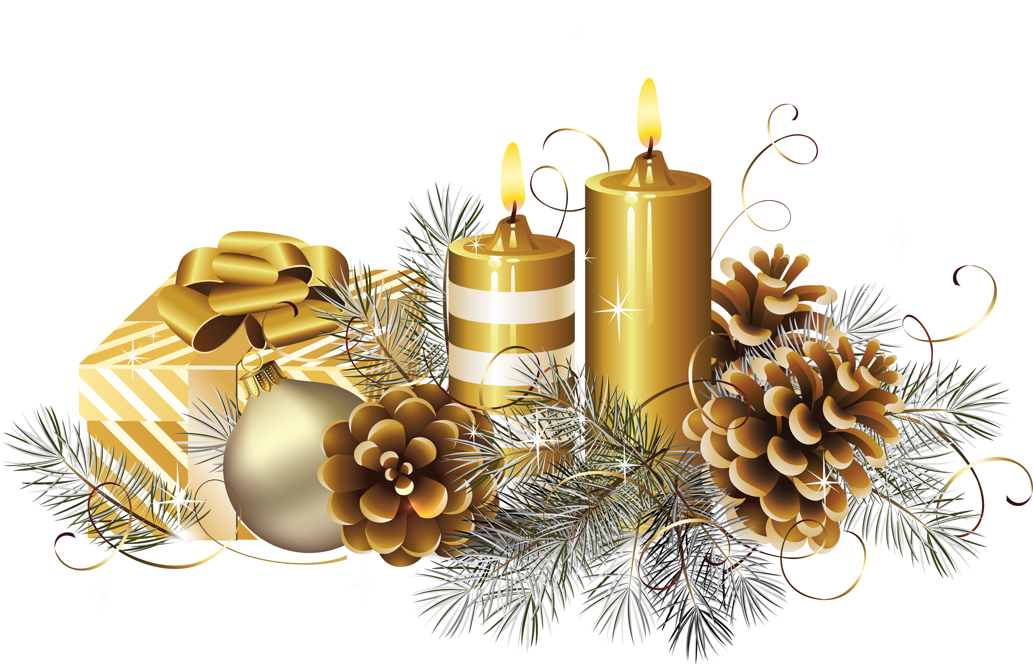 Christmas Candle's PNG Image.