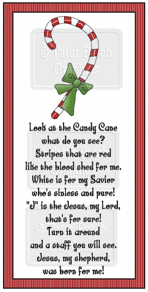 Christian Candy Cane Poem.
