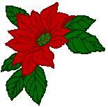 Free Christmas Poinsettia Clipart.