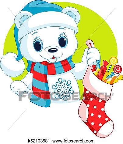 Christmas Polar Bear Clipart.