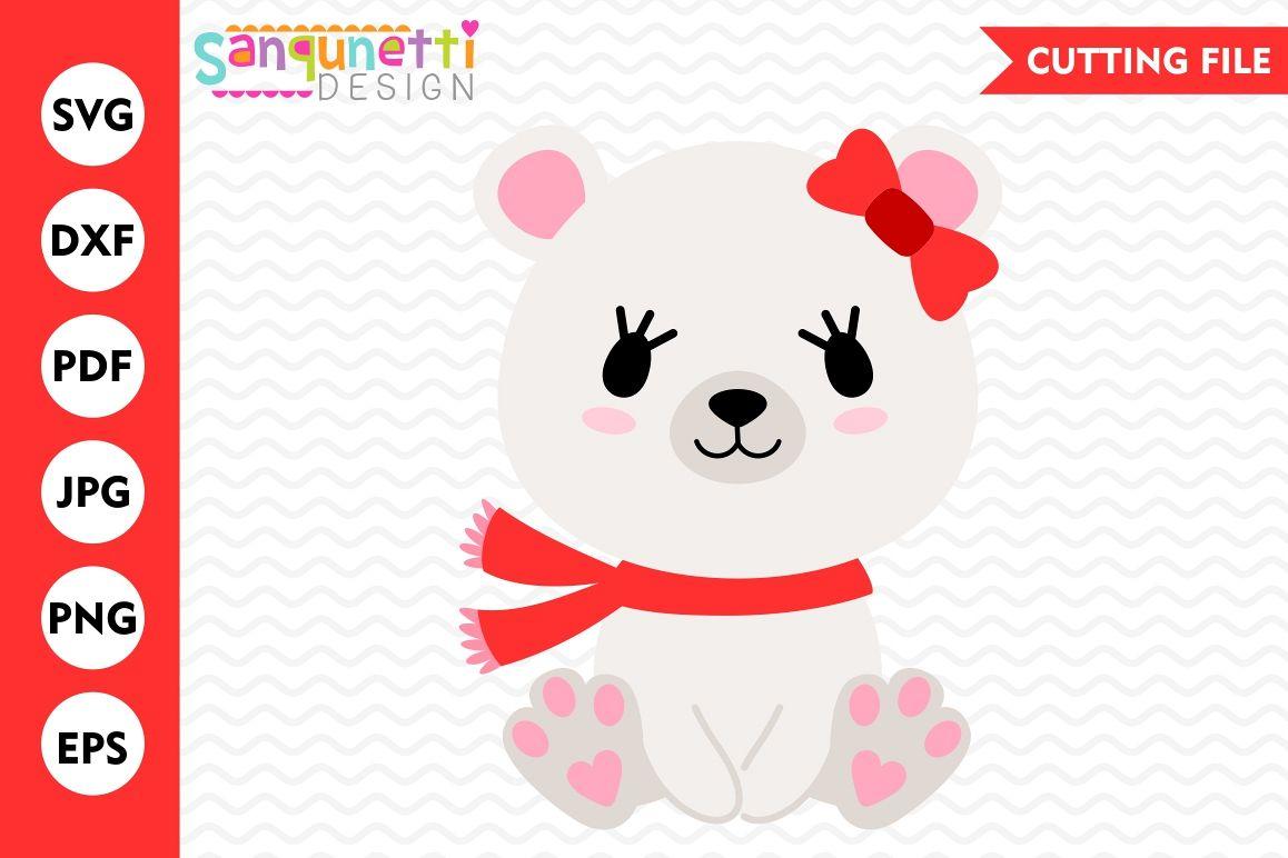 Polar Bear SVG, polar bear clipart, Winter svg, Christmas.