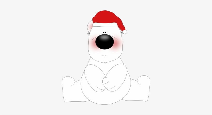 White Christmas Bear Clip Art.