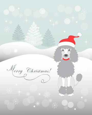 183 Christmas Poodle Stock Illustrations, Cliparts And Royalty Free.