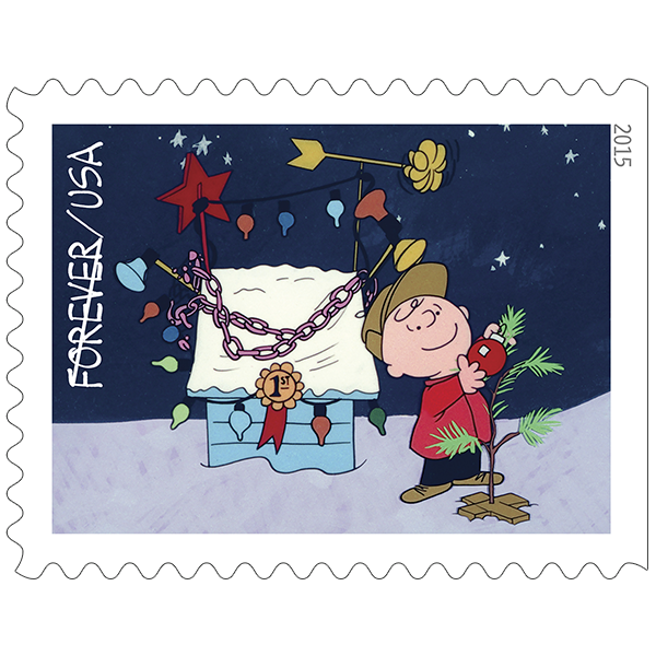 Charlie Brown Christmas Forever® Stamps.