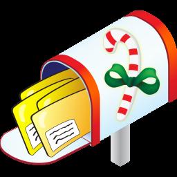 Christmas mailbox clipart.